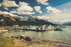 Its only that Lake again. (ian.emerson36 (off for a week, going camping)) Tags: autumn lake snow canada mountains ice clouds landscape rockies boats natural scenic september stunning