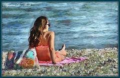 Estate al mare - Luglio-2016 (agostinodascoli) Tags: bagnante mare acqua art digitalart digitalpainting photoshop texture impressionismo donne persone agostino dascoli sicilia seccagrande