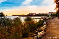 Herttoniemenranta sunset (Joni Salama) Tags: meri vesi on1effects auringonlasku herttoniemi valo photoshop panorama helsinki suomi luonto finland sea