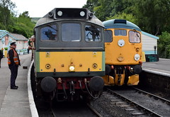 Class 25 (D7628) and Class 26 at Grosmont on the North Yorkshire Moors Railway (Russardo) Tags: yorkshire england class 25 d7628 26 grosmont north moors railway