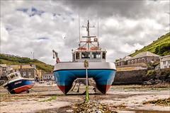 BOATS (jimstevens1953) Tags: boats portisaac cornwall harbour sea sand beach sky cloud outdoor sailing