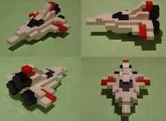 Basic LEGO starship (Lgendes Lorraines) Tags: lego spaceship starship fighter