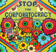 Clarion Alley Mural, San Francisco (Jill Clardy) Tags: clarion alley mission district san francisco california public art murals painting political statements ephemeral everchanging vibrant colorful 201608054b4a4161 artistic corporatocracy capitalism explore explored
