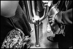Bags (GioMagPhotographer) Tags: france ricohgr subway bag hands paris hand detail