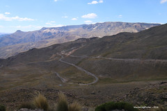 The road down to Chivay - Peru (WanderingPJB) Tags: peru road chivay altiplano andes hairpinbends hairpins