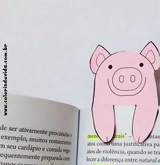 marcador de livro porquinho (gianjos) Tags: marcadordelivros scrapbook bookmark porquinho imprimir diy recortar decolorir veganismo
