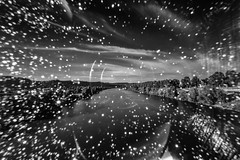 when your nd-filter does not sit properly... (Zesk MF) Tags: bw black white ndfilter longtime flow fluss river mosel trier nature sky langzeitbelichtung zesk mf nikon sigma 8mm dirty filter greyfilter sun spots