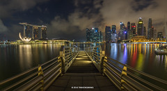 Marina Bay Singapore (spintheday) Tags: marinabaysands marinabay singapore singaporeriver reflection dock colourful morning holiday vacation