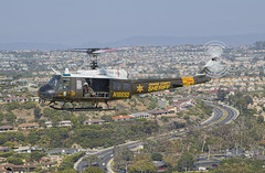 OCSD Duke 6 over Laguna Beach coastline RTB (PhantomPhan1974 Photography) Tags: ocsd orangecountysheriffsdepartment orangecounty danapointharbor duke6 uh1h n186sd