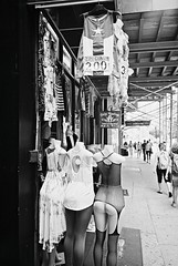 DR1-E006 (David Swift Photography Thanks for 18 million view) Tags: davidswiftphotography newyorkcity streetphotography streetscapes clothing clothingshops lingerie fetish 35mm film yashicat4 ilfordxp2