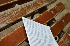 God forgotten on a bench (Sergio Snchez Prieto) Tags: bench paper god banco forgotten papel olvidado