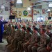 Secretary Kerry Fields an Audience Question After Addressing a Cross-Service Corps of U.S. Service Members Stationed at Camp Lemonnier
