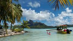 """Paradise"" - Bora-Bora, French Polynesia (TravelsWithDan) Tags: mountain island paradise southpacific borabora frenchpolynesia societyislands outriggercanoe"