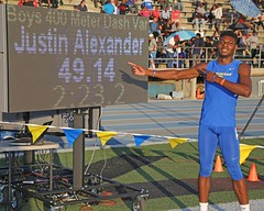 D125719A (RobHelfman) Tags: sports losangeles track highschool finals crenshaw justinalexander citysection