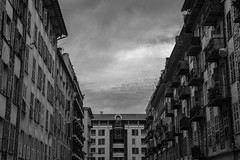 IMG_0908-1 Balcony or not ? , Nice (Design_Ex) Tags: city sky blackandwhite bw france clouds dark nice closed open close balcony south may paca mai ciel nuages facetoface ville sud noirblanc obscur opened alpesmaritimes balcons 2015 ouvert ferm