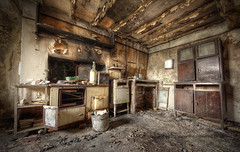 Bring a bottle (Sshhhh...) Tags: old urban house art abandoned kitchen canon vintage dark photography countryside photo closed oven artistic decay exploring cottage retro creepy explore forgotten hearth behind left derelict remains cupboard find aga discover sshhh sshhhh