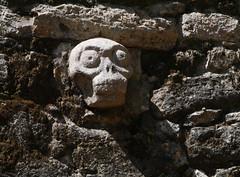 La Iglesia Pyramid, Coba Ruins (Niall Corbet) Tags: archaeology mexico temple skull ruins pyramid maya coba mayan templo