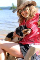 7537 (Jean Arf) Tags: sandlake ontario canada summer 2106 beach lake claire dog scarlet bernese mountain