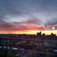 #sunset #nature #city #sun #sky #clouds () Tags: clouds sun sky nature sunset city