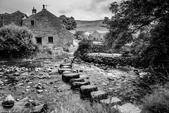 Giant Steps! (dazzbo1) Tags: stainforth beck river stream water stepping stones rocks cottage yorkshire dales village stone