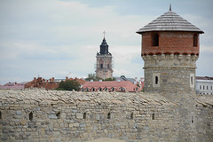 Catholic church and tower (intui.pro) Tags: old roof plant building tower history tourism stone museum architecture landscape town ruins outdoor stones citadel stonework text towers reserve ukraine temples walls bastion stronghold fortress palaces fastness strengthening kamianetspodilskyi