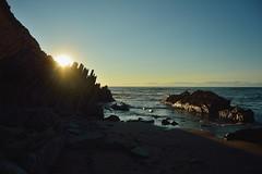 Sopelana Beach (lausrtx) Tags: summer light beach water sky stone rock blue sopelana espaa bizkaia vizcaya playa agua sun sunset sea