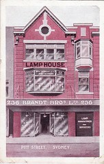 Advertising postcard for Brandt Bros., 236 Pitt Street, Sydney - early 1900s (Aussie~mobs) Tags: shop store sydney australia advertisement lamps pittstreet lamphouse brandtbrothers