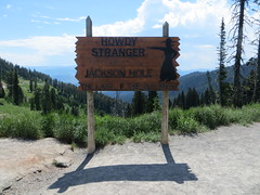 Jackson Hole welcome sign at Teton Pass (Joel Abroad) Tags: wyoming tetonpass jacksonhole grandtetons signage