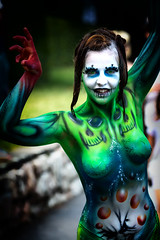 Lady of Skulls (Alex M. Wolf) Tags: bodypainting body painting paint bodyart wbf wbf2015 alexmwolf canon eos5dmkiii prtschach poertschach carinthia colors color art
