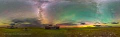 The Natural Sky of Grasslands National Park (Amazing Sky Photography) Tags: 360panorama aurora bigdipper frenchmanriver grasslandsnationalpark larsonranch milkyway ptgui saskatchewan abandoned airglow darkskypreserve greenairglow pioneer prairie ranch redairglow rustic