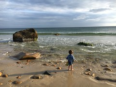 Pondering, Martha's Vineyard (alexandraappel) Tags: shotoniphone6s bambini kinder pondering contemplation children vacation sand