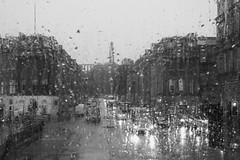 Scottish summertime (byronv2) Tags: edinburgh edimbourg scotland blackandwhite blackwhite bw monochrome weather wet rain storm summerstorm thunderstorm eastend princesstreet waterlooplace newtown raining