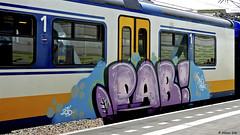 Painted Train (Akbar Sim) Tags: trein train sprinter graffiti holland nederland netherlands akbarsim akbarsimonse pab illegal