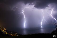 Nuit de foudre sur le lac Lman (MarKus Fotos) Tags: orage orages foudre tonnerre bolt impact eclair clair clairs thunder thunderstorm thunderstrike suisse switzerland lman leman lac landscape vaud france f4 canon