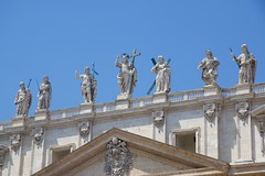 Christ with Saint John the baptist and apostles (Seoirse) Tags: christ saint john baptist apostles basilica rome peters