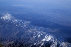 Aerial view of the White Mountains, California and Nevada (cocoi_m) Tags: aerialphotograph aerial whitemountains thin cover snow monocounty california esmeraldacounty nevada nature geology geomorphology