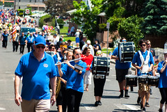Parade Route (Sean Zujkowski) Tags: parade band pentax arching high school telephoto march memorial day holiday colors bright vibrant k200d phoenix lens f71 640 iso depth field