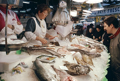 VENTA DE PESCADO EN EL MERCADO DE LA BOQUERIA (Manel Armengol C.) Tags: barcelona espaa spain pescado 90s catalua venda comercio mercatdelaboqueria alimentacion peix mercadodelaboqueria mercatdesantjosep alimentaci peixateria comer barcelonacatalunya mercadodesanjos ventadepescado mercatmunicipal pescateria