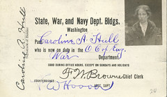 Caroline A. Hull War Dept ID (Madison Historical Society) Tags: madisonhistoricalsociety madisonhistory mhs madison connecticut conn ct connecticutscenes country newengland scan bobgundersen museum old historical history worldwari wwi firstworldwar greatwar military leeacademy academy bostonpostroad route1 interesting image inside indoor interior shoreline document