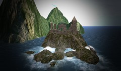 Within The Ruins (ReignShadow) Tags: secondlife waves castle ruins tail sea ocean reflection