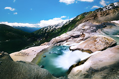 Starting Point (NIOphoto.) Tags: rhone waterfall longexposure water view landscape mountain mountains alps switzerland schweiz rocks