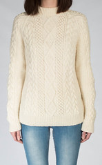 Moorfoot designed aran wool sweater (Mytwist) Tags: luxury hand knitted aran sweater moorfoot undyed wool fashion fetish sweatergirl irish aranstyle style sweaters jumper pullover