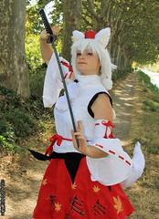 RinCosplay_004 (Ragnarok31) Tags: rin cosplay loup fort roseaux arbre japonais sabre