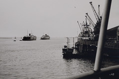 Docked . . (Parkeston quay) (Eduard van Bergen) Tags: harwich bay harbor harbour sea zee meer england ships boats boating passengers canal ermel captain master crew hull british angleterre dovercourt stour river parkeston command english northsea officer dfds blackandwhite monochrome winston churchill roro 1968 united kingdom esbjerg denmark scandinavian seaways genova italy gothenburg tyne dana anglia boat vehicle outdoor ship beatrix stafford amsterdam rail prinses mid barrow seven stones pinmill key essex avalon ferry