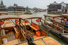 Zhujiaujiau (stevefge (away for a few days)) Tags: china shanghai watertown boats water reflectyourworld zhujiaujiau