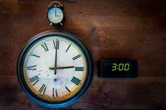 Three O'Clock Of A Kind (Jason _Ogden) Tags: threeoclockofakind flickrfriday d90 3 minutehand threeoclock time vr18200 threeofakind hourhand clock three