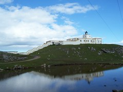 Strathy Point Lighthouse, Strathy, Sutherland, July  2015 (allanmaciver) Tags: strathy point lighthouse reflections morning warm location sutherland north scotland
