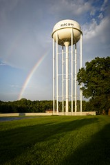 Harg Rainbow (Notley) Tags: rainbow architecture outdoor sky cloud cloudysky httpwwwnotleyhawkinscom notleyhawkinsphotography notley notleyhawkins 10thavenue clouds 2016 summer august harg watertower hargwatertower hargmissouri