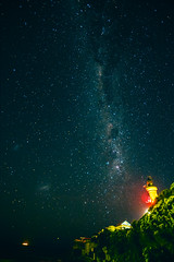 2016 PHOTOCHALLENGE, WEEK 34: NIGHT SKY SCENIC (Honeydew Lake) Tags: astrophotography milkyway stars photochallenge2016 lighthouse pointlonsdale victoria beach ocean sea night sky scenic