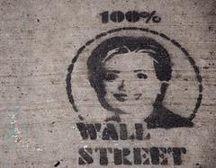 Hillary Clinton (AlainC3) Tags: artderue streetart newyork nyc usa prsidentielle novembre2016 wallstreet stencil presidentialelection pochoir
